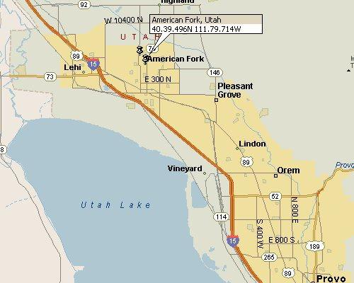 American Fork, Utah Map 1