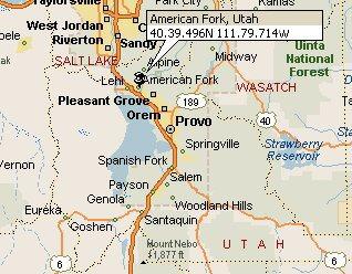 American Fork, Utah Map 2