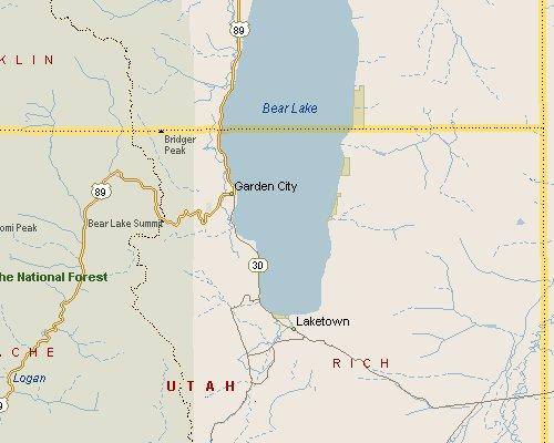 Bear Lake Utah Map 1