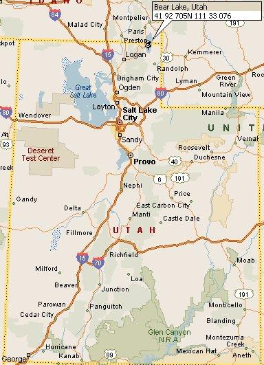 Bear Lake Utah Map 4