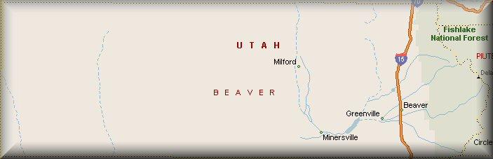 Beaver County Utah Map