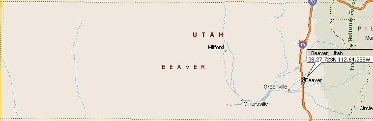 Beaver Utah Map 2