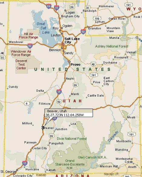 Beaver Utah Map 4