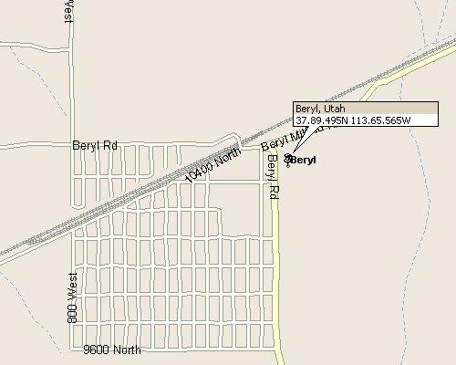 Beryl Utah Map.Beryl Utah Map 3