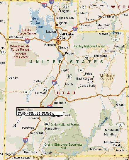 Beryl, Utah Map 4