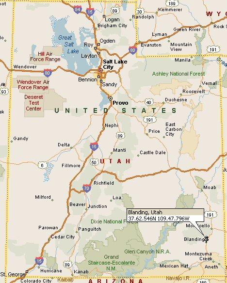 Blanding Utah Map 4