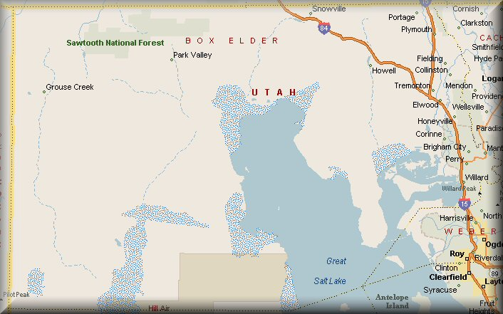 Box Elder County Utah Map