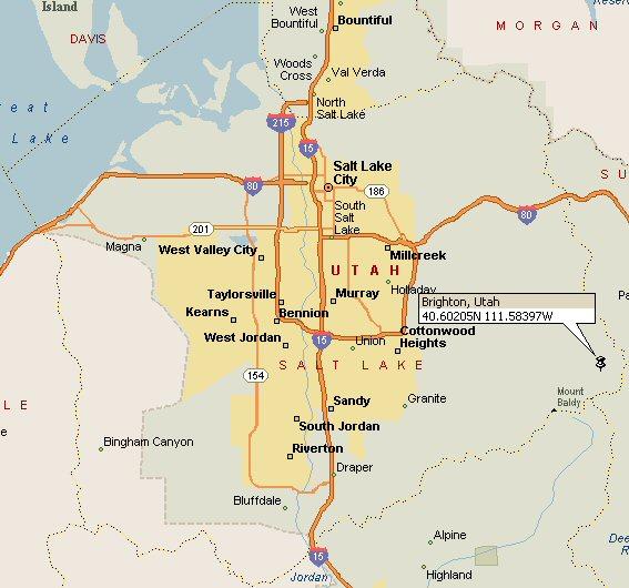 Brighton Utah Map.Brighton Utah Map 2