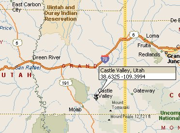 County Utah Map.Castle Valley Utah Map 2