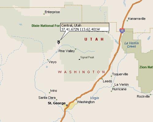 Central Washington County Utah Map 1