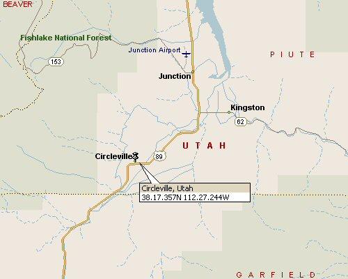 Circleville, Utah Map 1