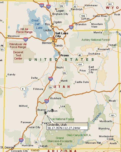 Circleville, Utah Map 4