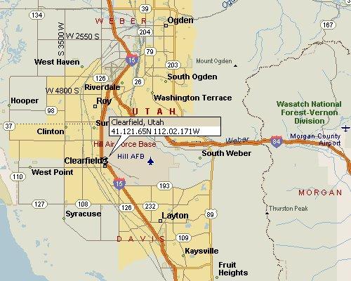 Clearfield Utah Map 1