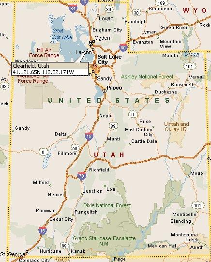 Clearfield, Utah Map 4