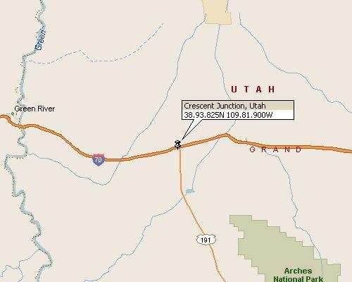 Crescent Junction Utah Map 1