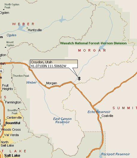 Croydon Utah Map 2
