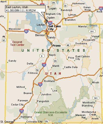 Layton Utah Map