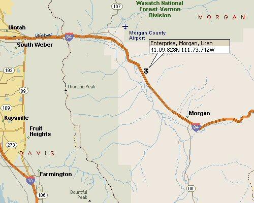 Enterprise Morgan Utah Map1