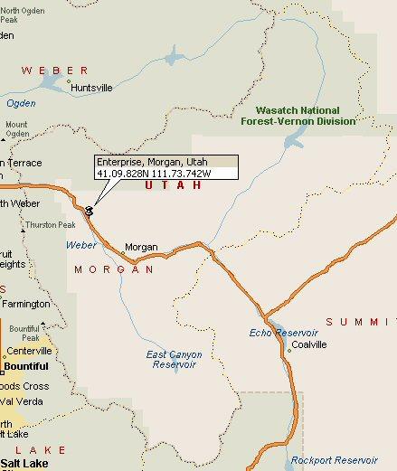 Enterprise Morgan Utah Map 2