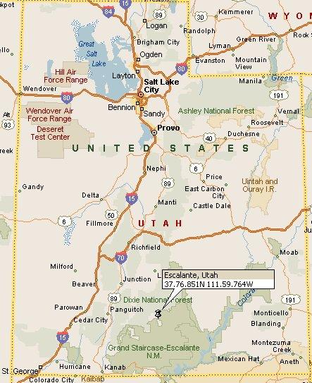 Escalante Utah Map Escalante, Utah Map 4