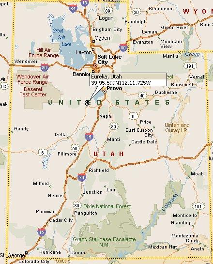 Eureka Utah Map 4