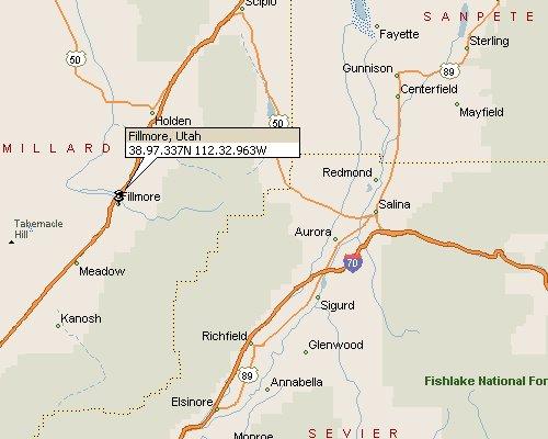 Fillmore Utah Map 1