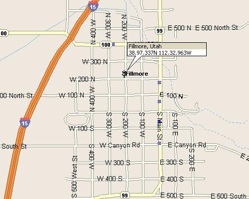 Fillmore Utah Map 3