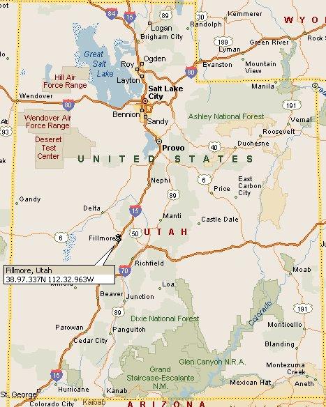Fillmore Utah Map 4