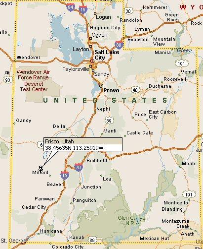 Frisco Utah Map