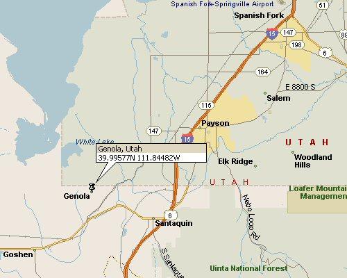 Genola Utah Map 1