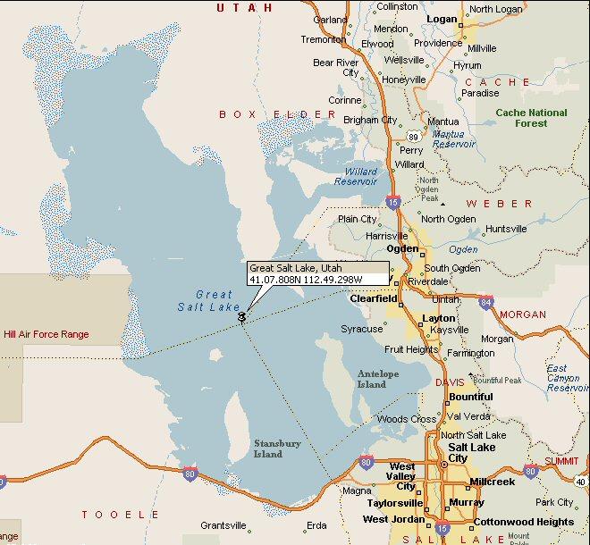 Great Salt Lake Utah Map