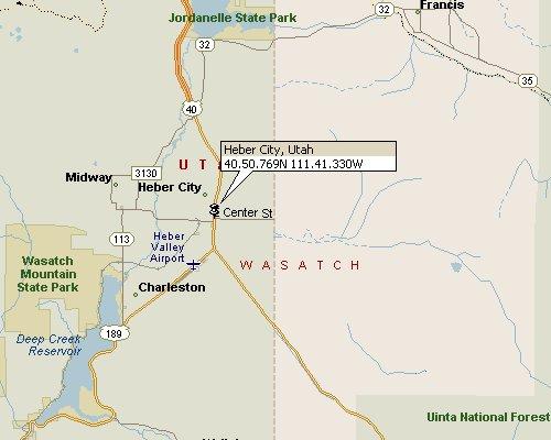 Heber Utah Map 1