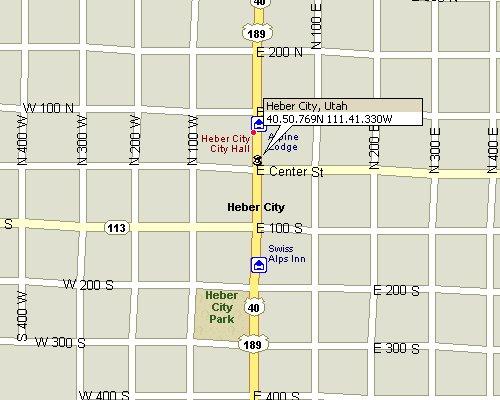 Heber Utah Map 3