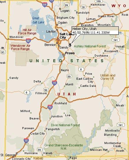 Heber Utah Map 4