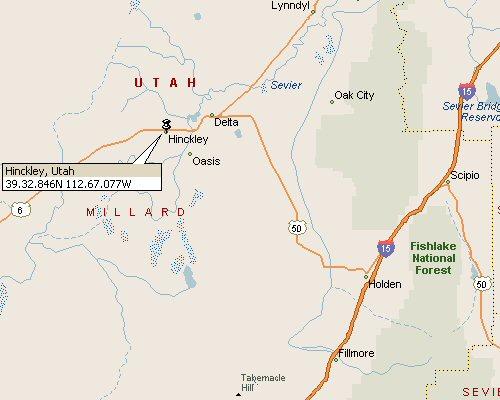 Hinckley, Utah Map 1