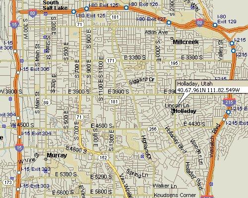 Holladay Utah Map 1