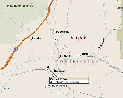 Hurricane Utah Map