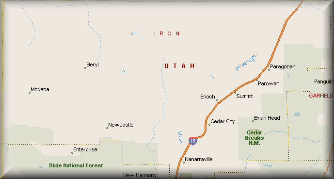 IRON COUNTY UTAH MAPS | MAPS CATALOG