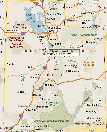 Colorado City Utah Map.Jacob City Gisborn Utah Map 4
