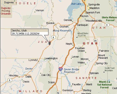 Jericho Utah Map 1
