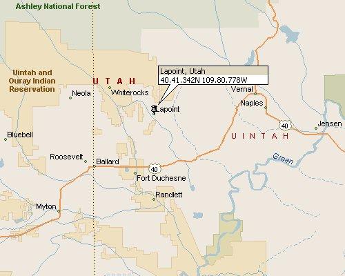 Lapoint Utah Map 1