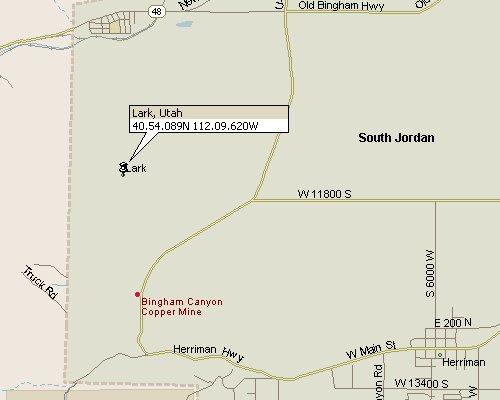 Lark Utah Map 1