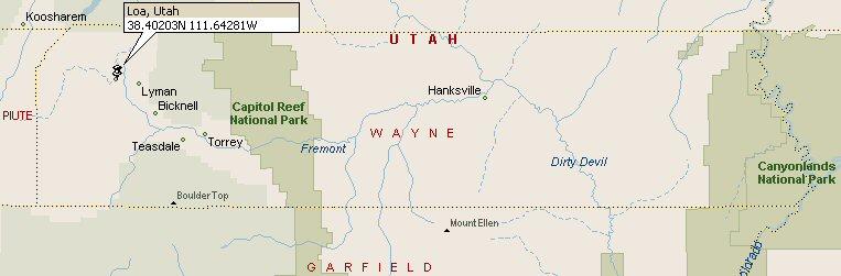 Loa Utah Map