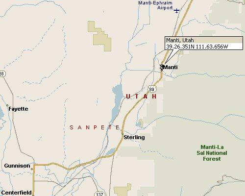 Manti Utah Map 1