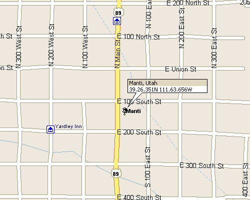 Manti Utah Map Manti Utah Map