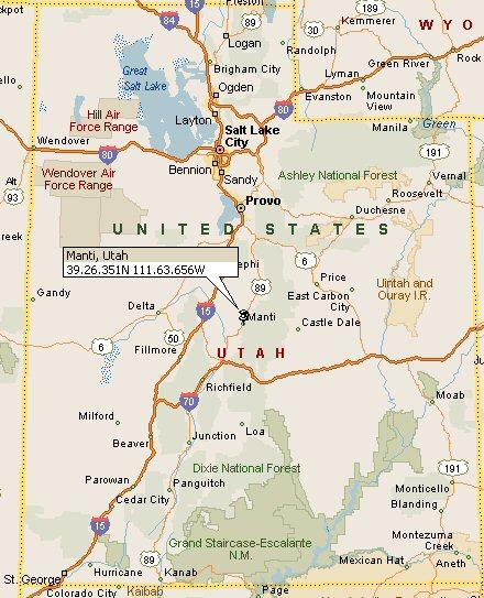 Manti Utah Map 4