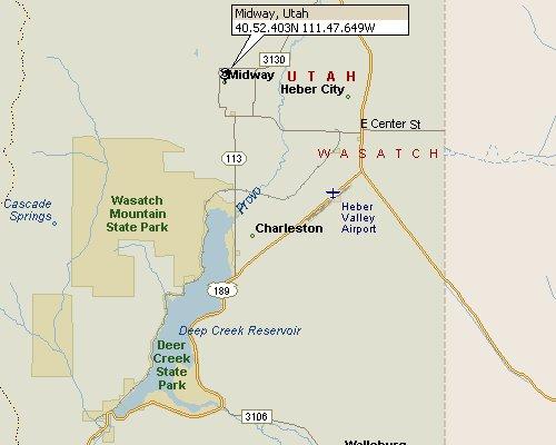 Midway Utah Map 1