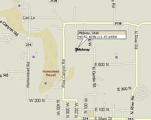 Midway Utah Map 3