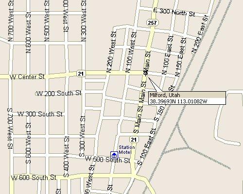 Milford Utah Map.Milford Utah Map