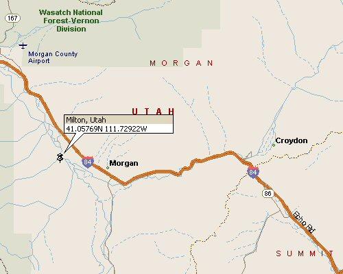Milton Utah Map 1